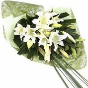 Classic white oriental lily bouquet