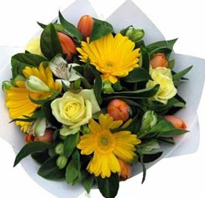 Cheerful Mixed flower bouquet
