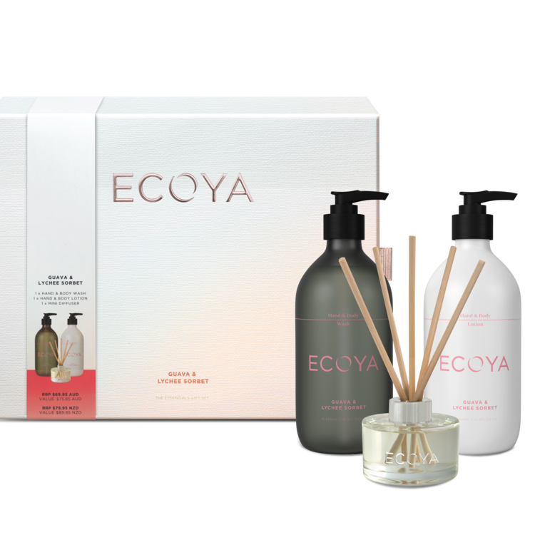 Guava and Lychee Sorbet Essentials Gift Set