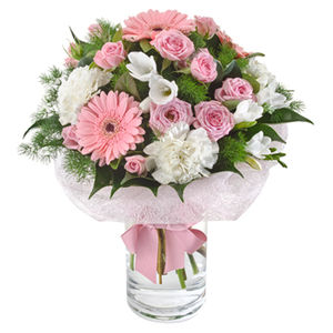 Pretty Pink and White Flower Bouquet Blooms of Yarrawonga