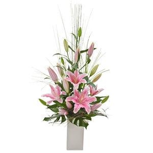 Simply stunning oriental lillies arrangement Blooms of Yarrawonga
