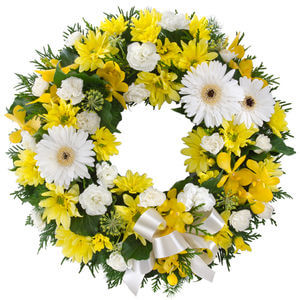 Sympathy Wreath yellow