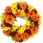 Sympathy Wreath orange