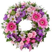 Sympathy wreath Mauve